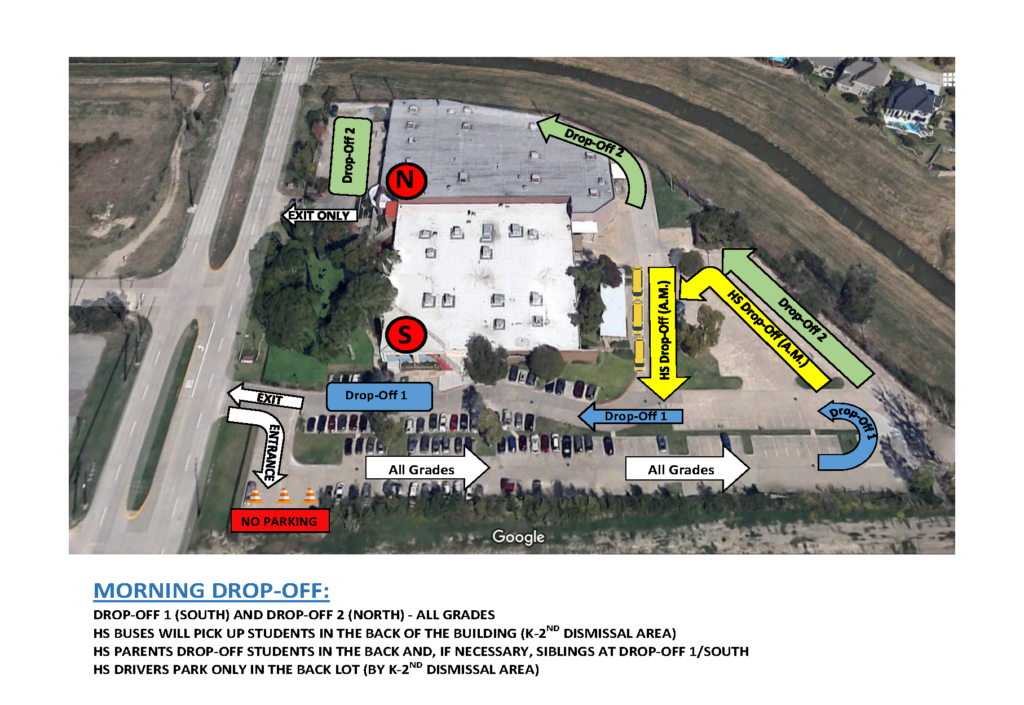 HSE Morning Drop-off Map