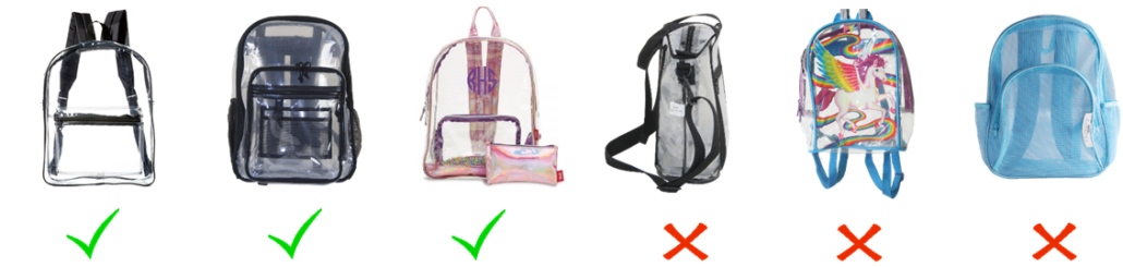 Clear Backpack Examples